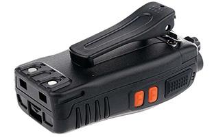 pinza clip para colgar del cinturón incluida en la caja del walkie talkie baofeng 888s